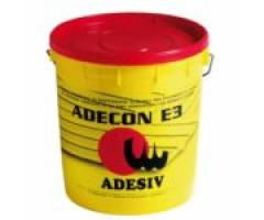 "Клей ADESIV ADECON E3 (25 кг) - <ul class=""atr"">  <li class=""art_bottom_line""><span class=""art_top"">Артикул:</span><span class=""art_top"">ADECON E3</span></li> </ul> <ul class=""atr"">  <li class=""art_bottom_line""><span class=""art_top"">Производитель:</span><span class=""art_top"">Adesiv</span></li> </ul> <ul class=""atr"">  <li class=""art_bottom_line""><span class=""art_top"">Состав:</span><span class=""art_top"">Однокомпонентный</span></li> </ul> <ul class=""atr"">  <li class=""art_bottom_line""><span class=""art_top"">Основа:</span><span class=""art_top"">Водно-дисперсионный</span></li> </ul> <ul class=""atr"">  <li class=""art_bottom_line""><span class=""art_top"">Назначение:</span><span class=""art_top"">Для внутренних работ</span></li> </ul> <ul class=""atr"">  <li class=""art_bottom_line""><span class=""art_top"">Объем:</span><span class=""art_top"">25 кг</span></li> </ul> <ul class=""atr"">  <li class=""art_bottom_line""><span class=""art_top"">Расход:</span><span class=""art_top"">1000-1300 гр/кв.м</span></li> </ul> <ul class=""atr"">  <li class=""art_bottom_line""><span class=""art_top"">Время работоспособности:</span><span class=""art_top"">30 мин</span></li> </ul> <ul class=""atr"">  <li class=""art_bottom_line""><span class=""art_top"">Страна производитель:</span><span class=""art_top"">Италия</span></li> </ul> - Клей маркет"